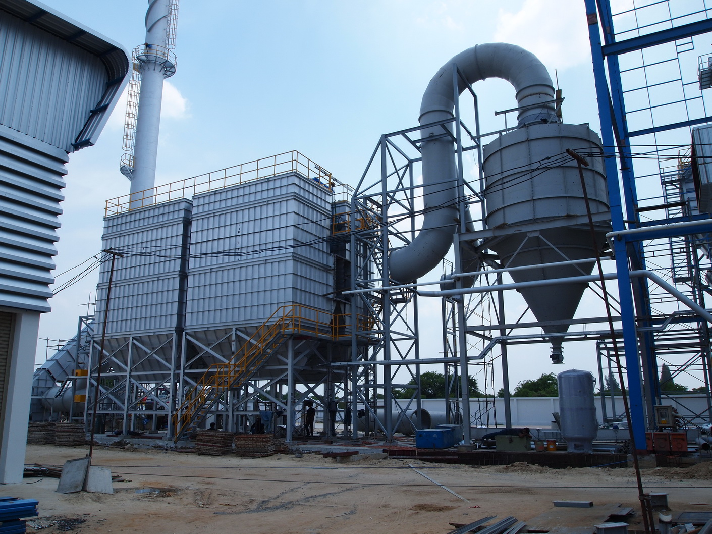 Cyclone Pre Filter Biomass Power Plant
